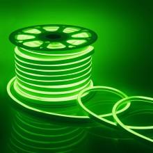 Светодиодный НЕОН, 8Вт/м, 10.5х18.5 мм, Зеленый