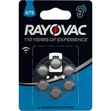 Батарейки воздушно-цинковые для слуховых аппаратов VARTA RAYOVAC HAB 675 (6 шт)