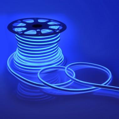 Светодиодный НЕОН (две стороны свечения), 6Вт/м, 8.5х18.5 мм, Синий