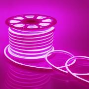 Светодиодный НЕОН, 8Вт/м, 10.5х18.5 мм, Розовый