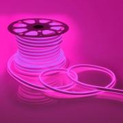 Светодиодный НЕОН (две стороны свечения), 6Вт/м, 8.5х18.5 мм, Розовый